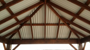 inrernal view of rectangle Colorbond gazebo